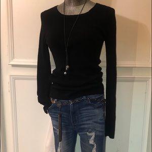 Express Tops - Express Black Ribbed Sweater